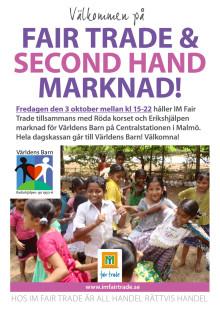 Fair Trade & Second Hand marknad i Malmö!