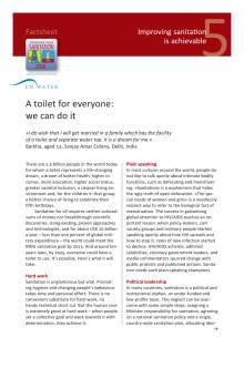 Egen toalett - realiserbar dröm för 2,6 mdr barn, kvinnor och män