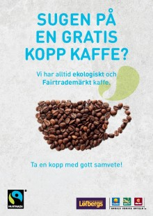 Stenungsbaden bjuder på Fairtradefika den 16 oktober