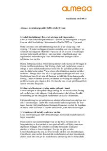 Almegas sju krav i avtalsrörelsen