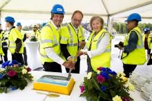 Första spadtaget för Villeroy & Boch Gustavsbergs nya fabrik på Ekobacken – investeringen ett led i Gustavsbergs nya inriktning