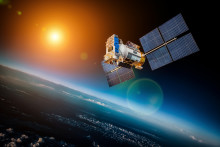 Springing fuel pipes from Lesjöfors in sun observing satellite