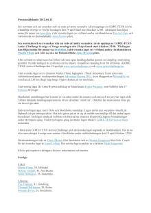 PDF Landslagen till årets GORE-TEX® Active Challenge är klara