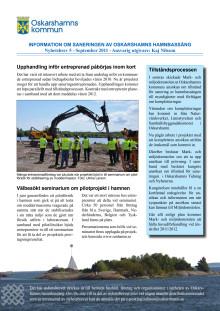 Nyhetsbrev 5 för sanering av Oskarshamns hamnbassäng