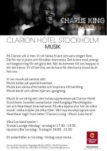 Clarion Hotel Stockholm - Musik