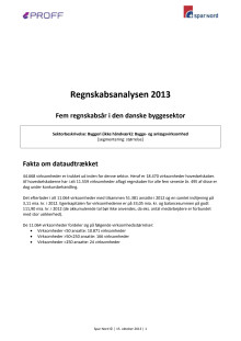 Regnskabsanalysen 2013 - Fem regnskabsår i den danske byggesektor