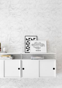 Marmor, betong og fliser – strukturer på tapetet