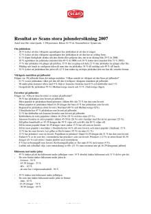 Scans julundersökning 2007