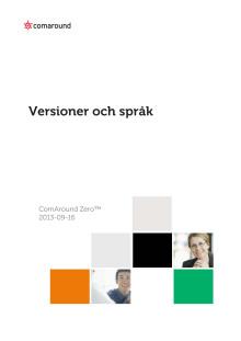 Versioner och Språk 2013