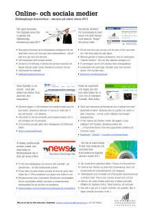 Handout - starten i sociala medier, våren 2011