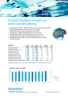 ReadSofts delårsrapport januari-september 2011