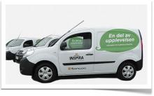 Nya företagsbilar stärker Inspiras profilering