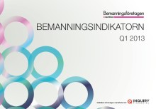 Upp för bemanningsbranschen i norra Sverige, i övrigt ovisst