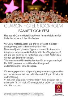 Clarion Hotel Stockholm - Bankett och fest