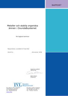 Rapport PCB i Oxundasjön mm del 1