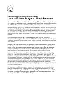 Förhållningssätt utsatta EU-medborgare
