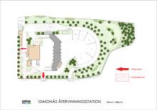 Tre nya byggnader när Gimonäs  återvinningscentral byggs om