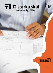 Broschyr som presenterar Tibro som bostadsort och etableringsort