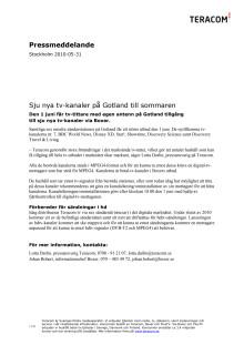 Sju nya tv-kanaler på Gotland till sommaren