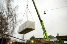 Byggandet av HSB Living Lab nu igång – och klart om två veckor