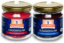 Kung Markatta lanserar KRAV-märkta bärpulver av nordiska blåbär och lingon
