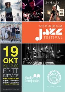 Studiefrämjandet bjuder in till sista kvällen på Stockholm Jazz Festival - söndag 19 oktober i Bryggarsalen