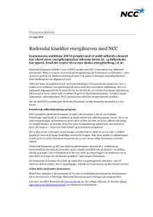 Pressemeddelelse - Rudersdal Kommune knækker energikurven med NCC