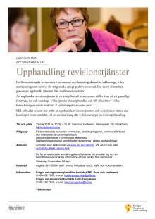 Inbjudan: Upphandling revisionstjänster