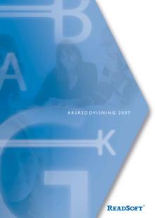 ReadSoft Årsredovisning 2007
