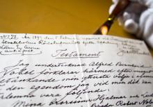 Pressträff om Alfred Nobels testamente