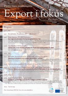 Exportdag 24 okt 2012