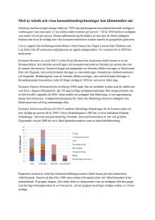 Faktablad, klimatrapport ur konsumtionsperspektiv