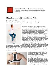 Emma Phil månadens innovatör  hos SmartaSaker.se i juni.