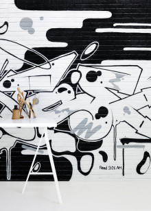​Wall mural collection with graffiti designs