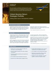 Global Absolute Return Strategies (GARS) –Informationsblad
