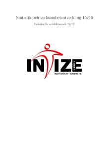 Intize –statistik och verksamhetsutveckling