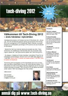 Tech-Diving 2012 Inbjudan