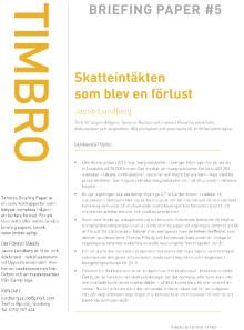 Nytt briefing paper: Miljardhålet i budgeten som Magdalena Andersson inte räknat med