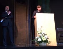 Lars Isacsson talar om avgiftsfri kollektivtrafik i Tallinn