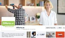 Offerta öppnar kundservice på Facebook