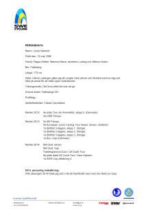 Persondata Linda Halleröd, Falköpings CK
