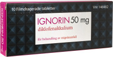 Nyhet! Ignorin (diklofenak 50 mg) gör det möjligt att tysta migränen med en enda tablett