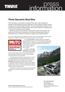 Information om Thules senaste takbox - Thule Dynamic