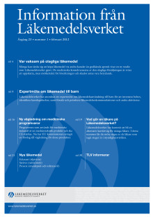 Information från Läkemedelsverket #1 2012