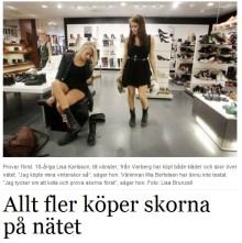 Allt fler köper skor på nätet