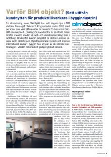 Varför BIM objekt? - Artikel i CAD & Ritnytt nr 4 : 2011