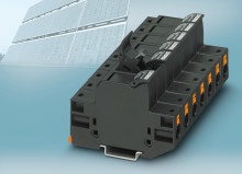 Säkringshållarplint med Push-in anslutning för 1000V