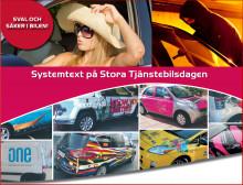 Systemtext på Stora Tjänstebilsdagen: demo av bilfoliering och 3M™ Scotchshield™ film, solskydd och säkerhet för dina bilrutor i samma produkt!