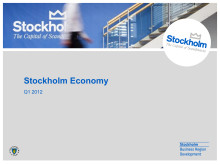 Stockholm Economy Q1 2012