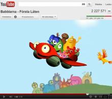 Babblarna är en succé! – Två miljoner tittar på You Tube